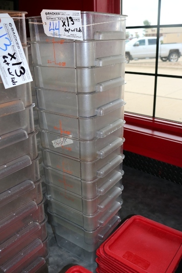 Times 13 - 6 quart food storage containers with lids