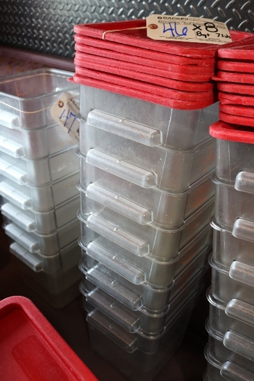 Times 8 - 8 quart food storage containers with lids