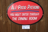 Times 2 - All Patio Patrons signs