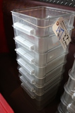 Times 7 - 8 quart food storage containers - no lids