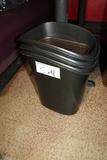 Times 4 - Black trash cans