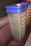 Times 8 - 12 quart food storage containers with lids