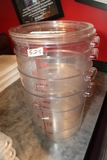 Times 4 - 1) 12 quart & 3) 18 quart round food storage containers with 2 li