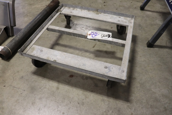 "20"" x 20"" aluminum 4 wheel cart"