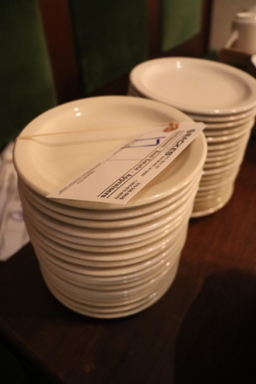 "Times 36 - 6.5"" white plates"