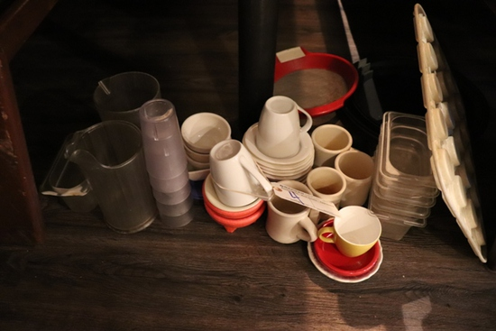 All to go - under table - cups, acrylic and more