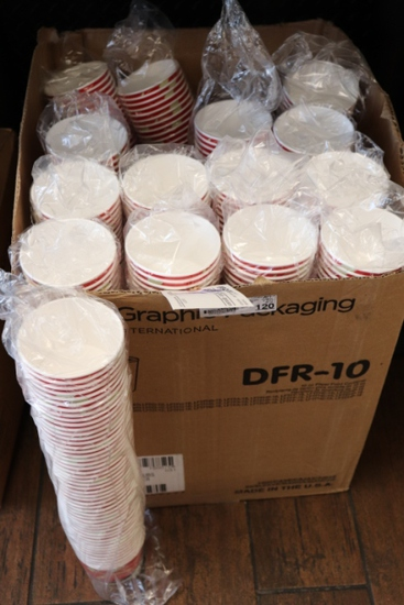 Graphic packaging 10 oz. paper food containers with lids
