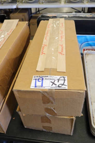 "Times 2 - Boxes of Crispy Crunch French double panel 4.5"" x 2.5"" x 24"" bags"