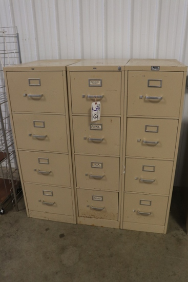 Times 3 - Hon 4 drawer file cabinets