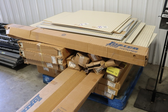 All to go - Pallet of new Lozier shelving parts