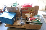 All to go - 3 pallets of used shelving racks, parts, displays, & more