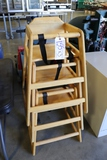 Times 3 - Oak high chairs