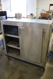 Portable stainless 2 sliding door cabinet