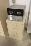 All to go - 2 drawer file cabinet & 2) 2 drawer organizers