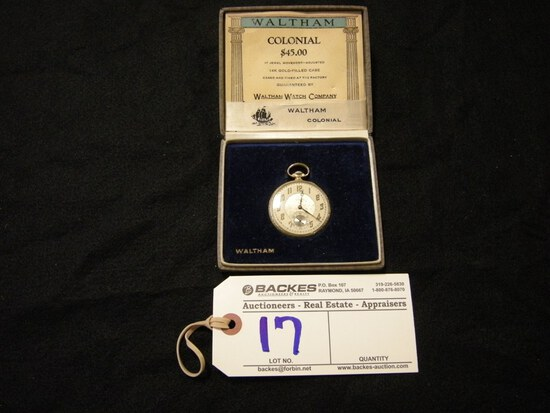 WALTHAM 14 carat gold filled pocket watch
