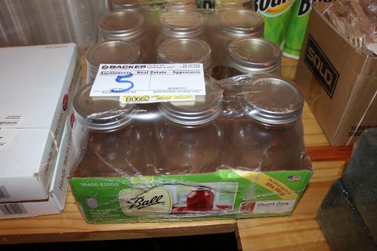 New case of Ball quart jars