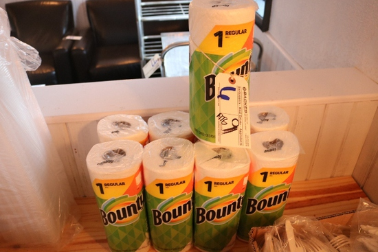 All to go - 9 rolls of Bounty paper towels