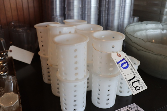 All to go - 16 white silverware holders/dispensers