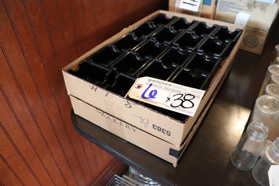 Times 38 - Black sugar packet holders