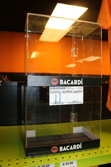 "Bacardi 11"" wide acrylic display case"