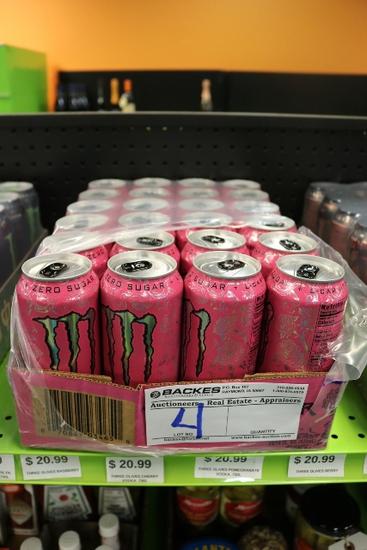 Case of Monster energy drink
