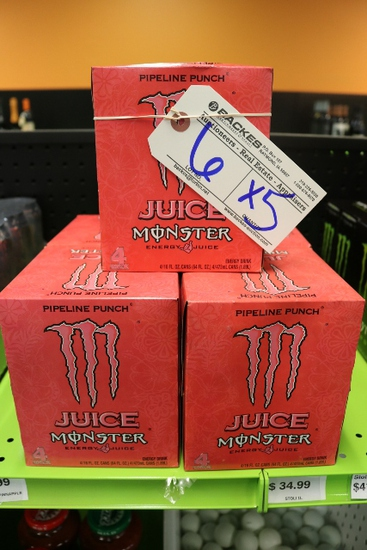 Times 5 - Boxes of Monster energy drink