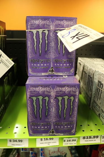 Times 4 - Boxes of Monster energy drink