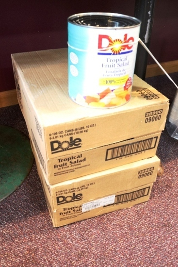 Times 2 - Cases of Dole tropical fruit salad cans
