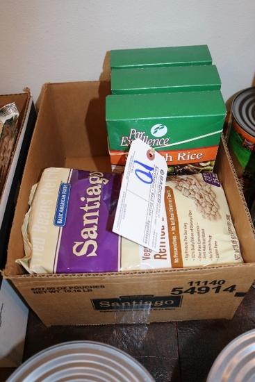 Box to go - Spanish rice & refried beans