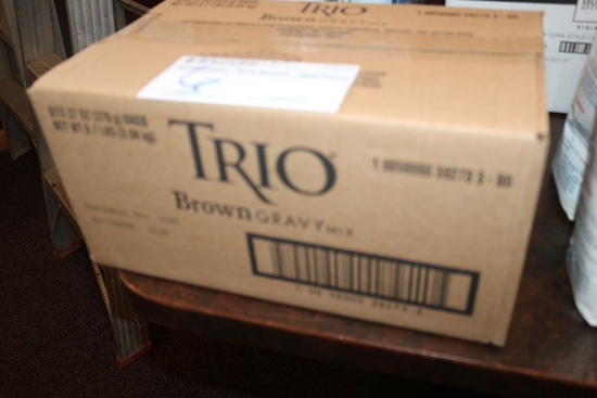 New case of Trio brown gravy mix