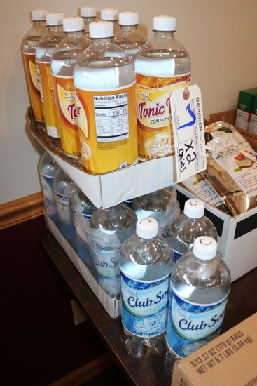 Times 2 - Cases of club soda & tonic water