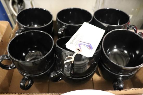 All to go GET Melamine black coffee mugs