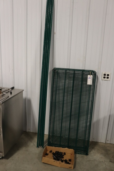 "24"" x 48"" green coated rack - nice"