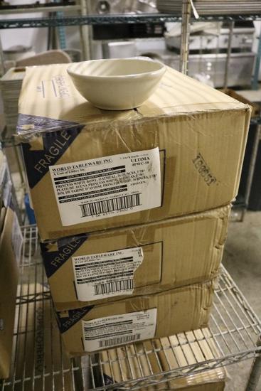 "Times 3 cases - 108 - 6"" white soup  bowls"