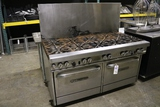 Southbend 10 burner portable gas range w/ double ovens