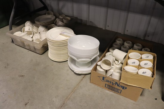 "All to go - 9"" plates & coffee cups"