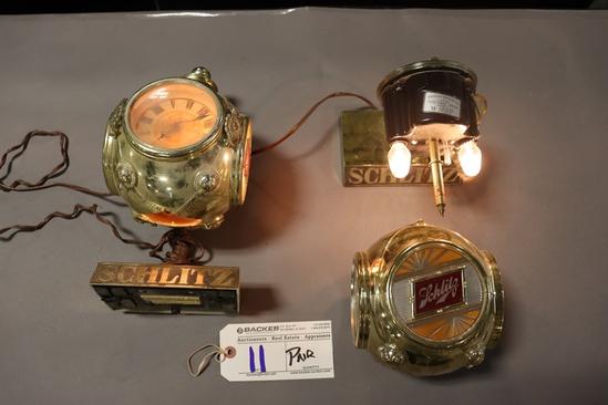 Pair to go - Schlitz register clocks