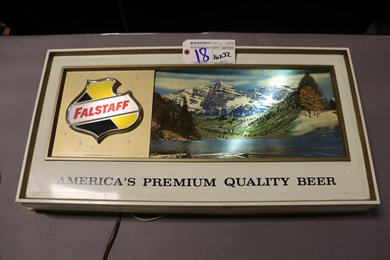"""16"""" x 32"""" Falstaff lighted wall sign - works"""