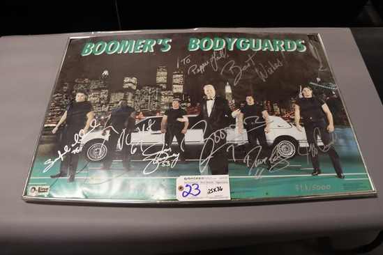 """25"""" x 36"""" Autographed Picture of Boomers Body Guards - #311/5000 - broken g"""