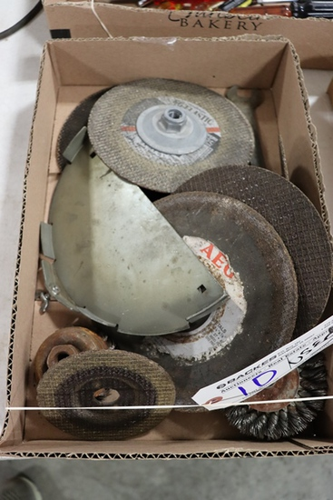 """Box of used 7"""" grinding disc"""
