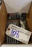 Box of Craftsman feeler gauges, small screwdrivers sets