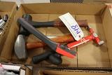 Box w/ 3 hammer & scraper