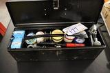 Tool box w/ propane torch, solder, misc.