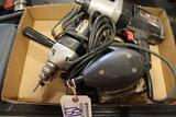 Box w/ electrical drill, sander & 1/2