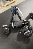 Cannon A-1 camera w/ Canon FD 50mm lense - Kiron 70-210mm lense - Achiever