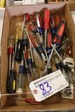 Box of assorted Craftsman screwdrivers