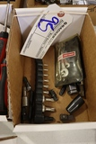 Box of Craftsman assorted tools & small wrench set