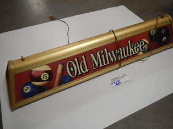Old Milwaukee Pool Table Light