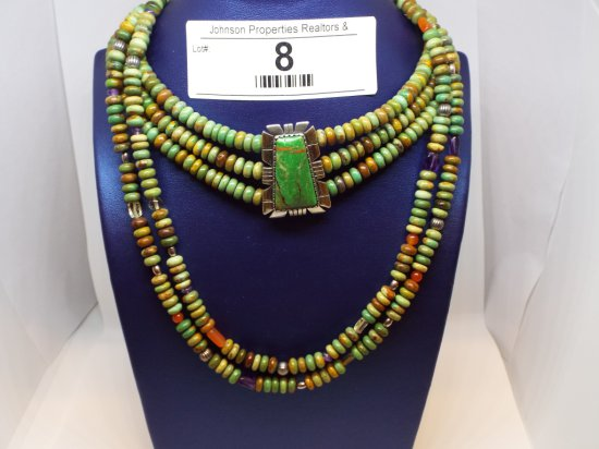 """Group of Two Necklaces 13"""" choker with 4' extender 35"""" necklace"""