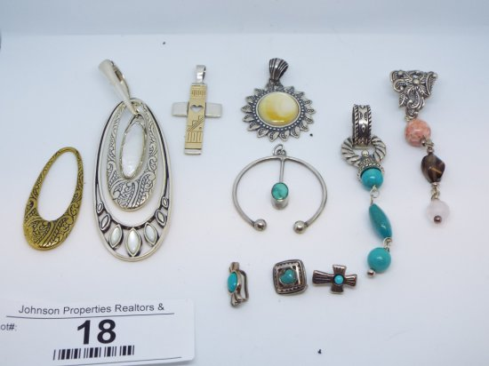 Misc. Charms and Pendants Large oval one features interchangeable pieces